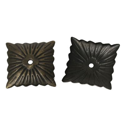 100 Schutzbleche / Kantendekore / Abdeckungen 2,1 x 2,1 cm antikmessing – Bild 3
