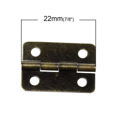 10 Metall-Scharniere mini 22x15mm altmessing Schmuckschatullen Boxen Schränke – Bild 2