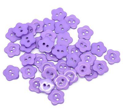 10 Kinderknöpfe Blume, 14 mm, violett – Bild 1