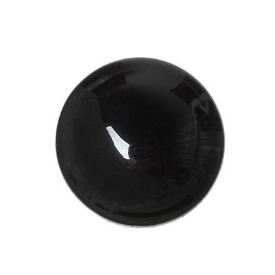1 Achat Cabochon schwarz, 12mm – Bild 1