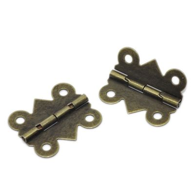 20 Antik Messing Scharnier, 2 x 2,4 cm, bronze – Bild 1