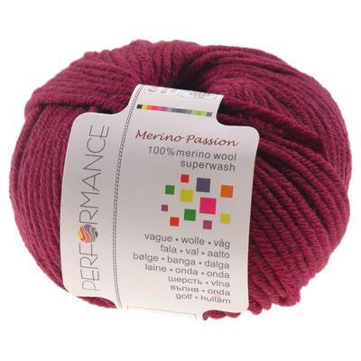 Strickgarn MERINO PASSION SUPERWASH 50g, #04 fuchsia