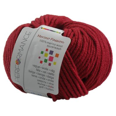 Strickgarn MERINO PASSION SUPERWASH 50g, #05 fuchsia-rot