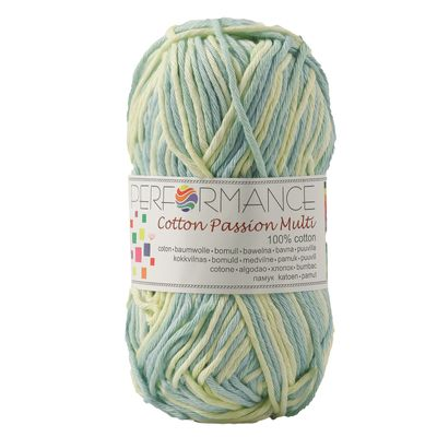Farbverlaufsgarn Cotton Passion Multi 50g #14804 gelb- grün- blau