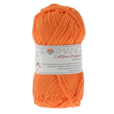 Häkelgarn Topflappengarn Cotton Passion 100% Baumwolle 50g, 50m #0243 orange – Bild 1