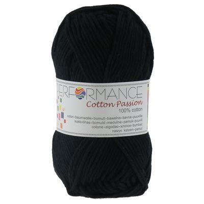 Häkelgarn Topflappengarn Cotton Passion 100% Baumwolle 50g, 50m #0203 schwarz