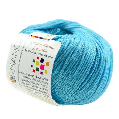 Strickgarn Cotton Flame Juvenile 50g #144-1 hellblau – Bild 1