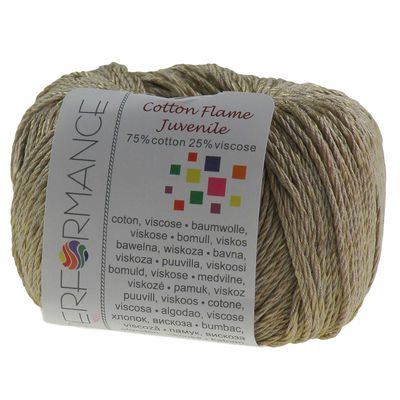 Strickgarn Cotton Flame Juvenile 50g #222 sahara