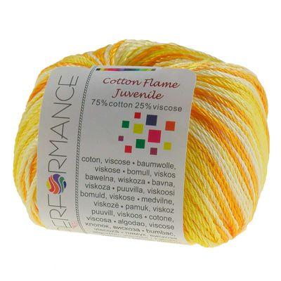 Strickgarn Cotton Flame Juvenile 50g #9087 Gelbtöne