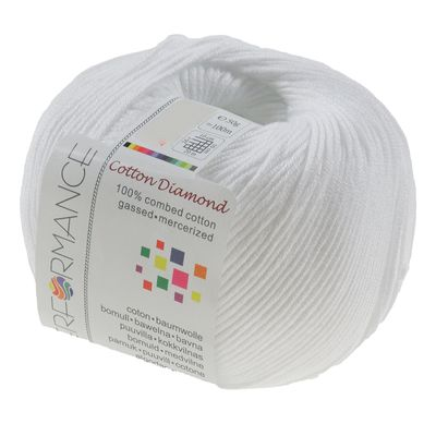 Strickgarn Cotton Diamond 50g #02 weiß