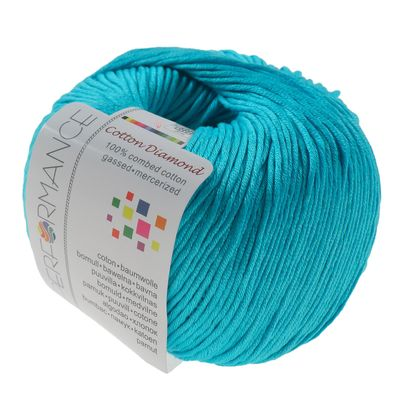 Strickgarn Cotton Diamond 50g #124 türkis