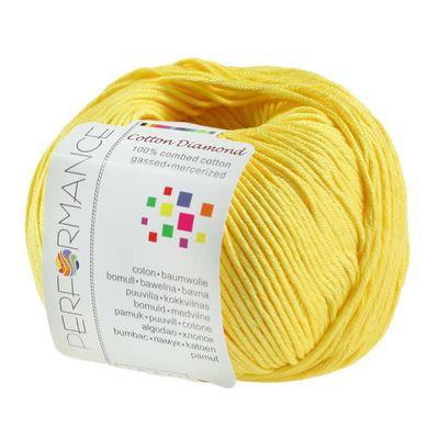Strickgarn Cotton Diamond 50g #179 gelb