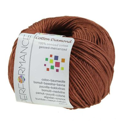 Strickgarn Cotton Diamond 50g #207 braun