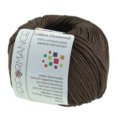 Strickgarn Cotton Diamond 50g #229 dunkelbraun