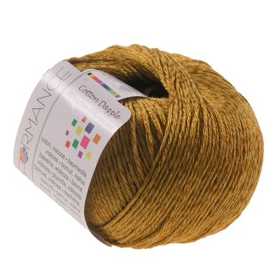 Strickgarn Cotton Dazzle 50g #190 gold-orange – Bild 1