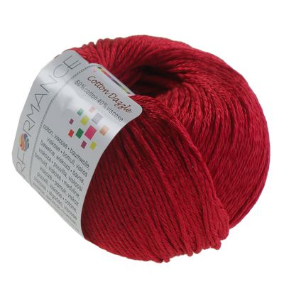 Strickgarn Cotton Dazzle 50g #09 rot – Bild 1