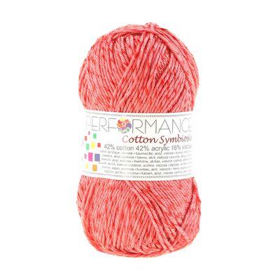 Strickgarn Wolle Cotton Symbiosis 50g #17 rosa-rot – Bild 1