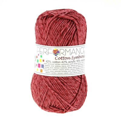 Strickgarn Wolle Cotton Symbiosis 50g #20 fuchsia