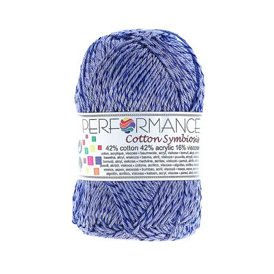 Strickgarn Wolle Cotton Symbiosis 50g #75 blau