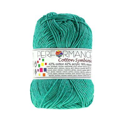 Strickgarn Wolle Cotton Symbiosis 50g #141 smaragdgrün – Bild 1