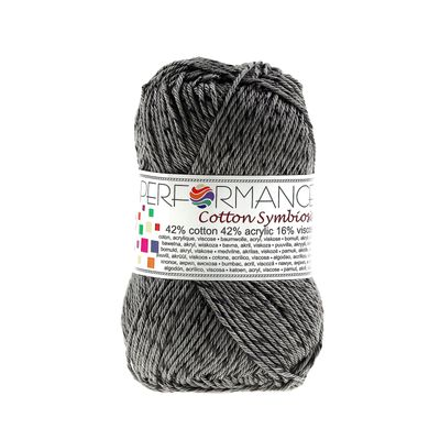 Strickgarn Wolle Cotton Symbiosis 50g #235 grau