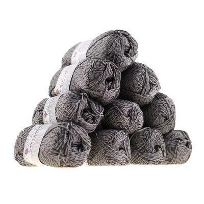 Strickgarn Wolle Cotton Symbiosis 50g #235 grau – Bild 2