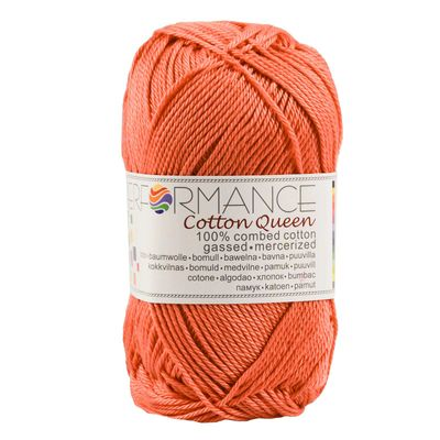 Strickgarn Cotton Queen 50g #0144 orange