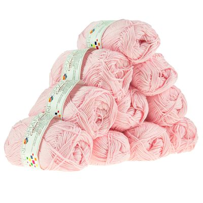 Strickgarn Cotton Queen 50g #0152 rosa – Bild 2