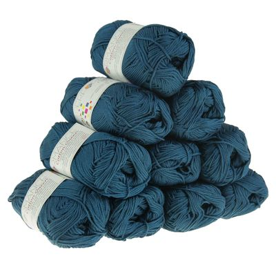 Strickgarn Cotton Queen 50g #0126 blau – Bild 2