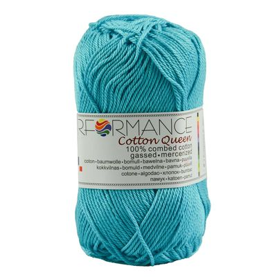 Strickgarn Cotton Queen 50g #0124 türkis