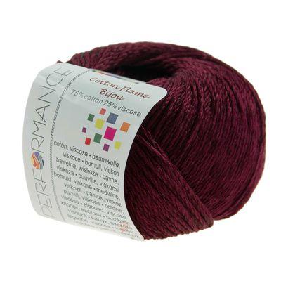 Strickgarn Cotton Flame BIJOU 50g #24 fuchsia – Bild 1