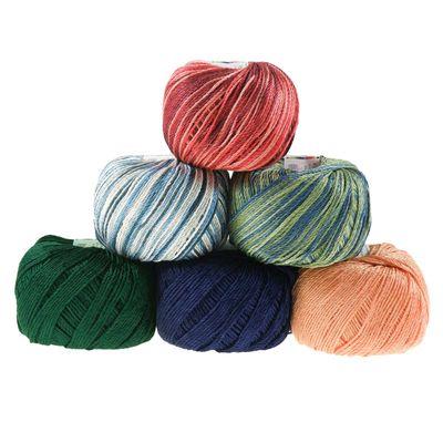 Strickgarn Cotton Flame BIJOU 50g #9145 grün- blau – Bild 3