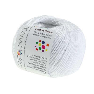 Strickgarn Cotton Pearl 50g #401 weiß – Bild 1