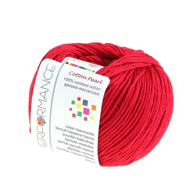 Strickgarn Cotton Pearl 50g #462 rot – Bild 1