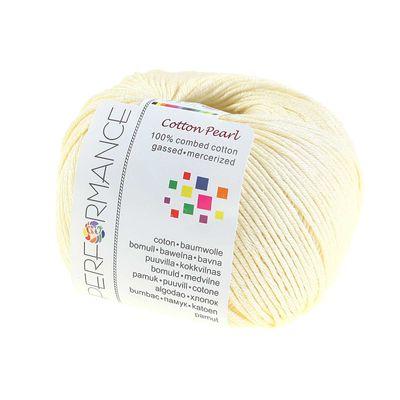Strickgarn Cotton Pearl 50g #411 gelb – Bild 1