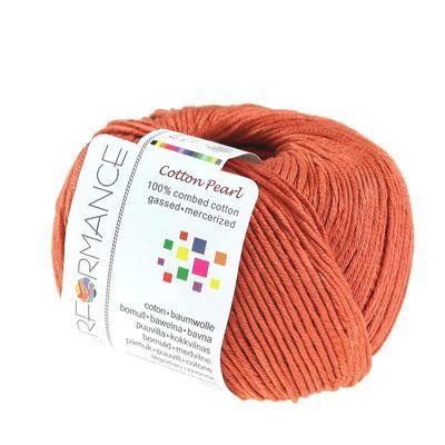 Strickgarn Cotton Pearl 50g #447 braun – Bild 1
