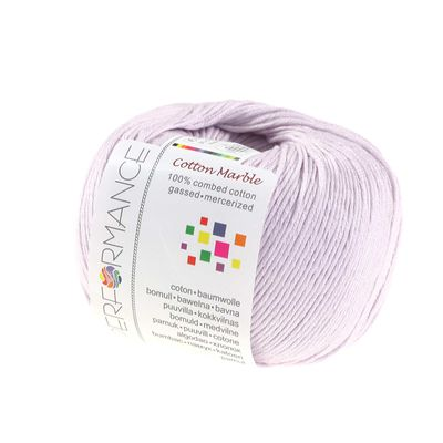 Strickgarn Cotton Marble 50g #50 flieder