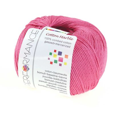 Strickgarn Cotton Marble 50g #34 fuchsia