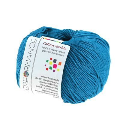Strickgarn Cotton Marble 50g #128 blau