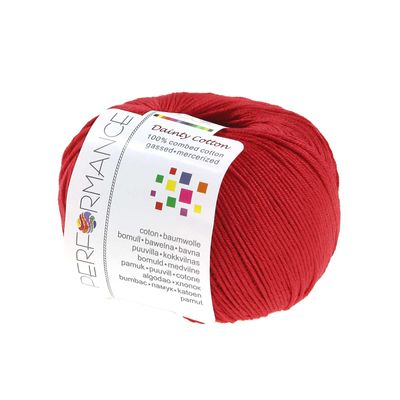 Strickgarn Dainty Cotton 50g #08 rot – Bild 1