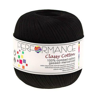 Häkelgarn Classy Cotton 50g #01 schwarz – Bild 1