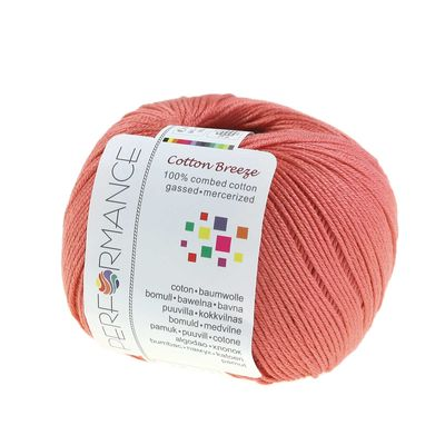 Strickgarn Cotton Breeze 50g #17 koralle