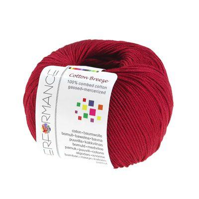 Strickgarn Cotton Breeze 50g #20 rot – Bild 1