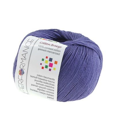 Strickgarn Cotton Breeze 50g #75 blau- violett