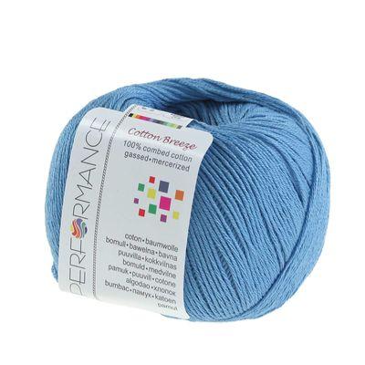 Strickgarn Cotton Breeze 50g #87 blau – Bild 1