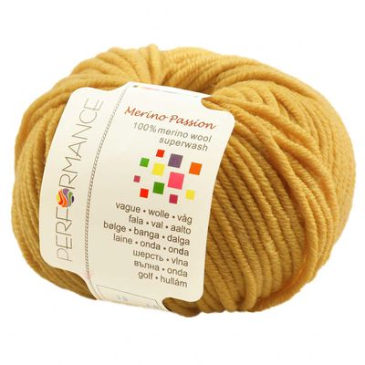 10 x 50g Strickgarn MERINO PASSION SUPERWASH, #07 gelb