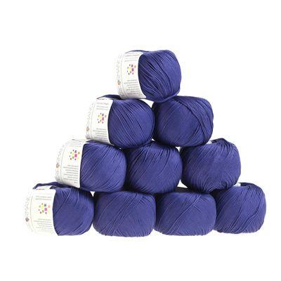 10 x 50g Strickgarn Cotton Comfort, #75 violett – Bild 1