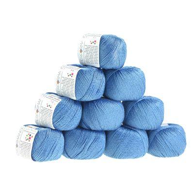 10 x 50g Strickgarn Cotton Twinkle, #87 blau – Bild 1