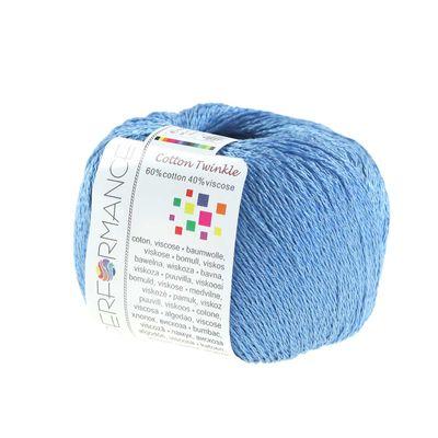 10 x 50g Strickgarn Cotton Twinkle, #87 blau – Bild 2