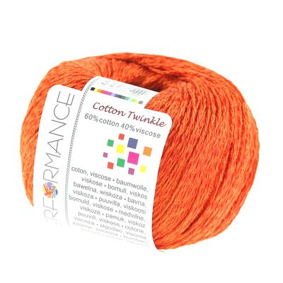 10 x 50g Strickgarn Cotton Twinkle, #198 orange – Bild 2